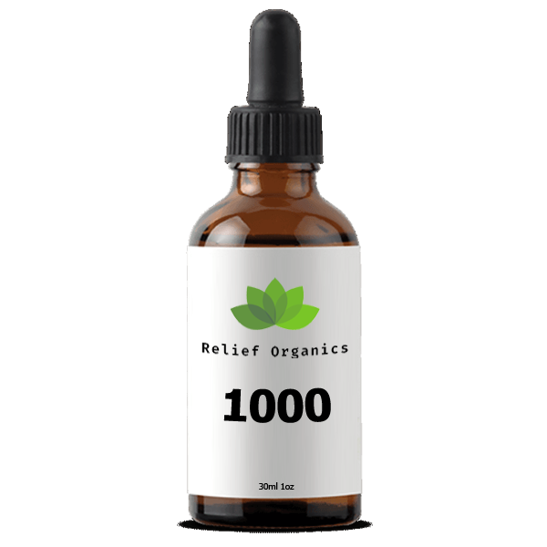 Relief Organics 1000mg Full Spectrum Hemp Oil