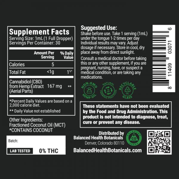 cbdistillery 5000 thc free label