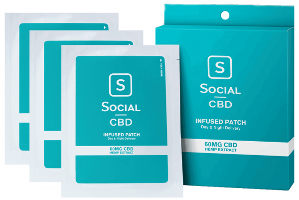 SocialCBD Patch 60mg 3pk